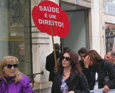 Protesto em defesa do Serviço Nacional de Saúde