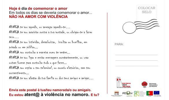 Não há amor com violência