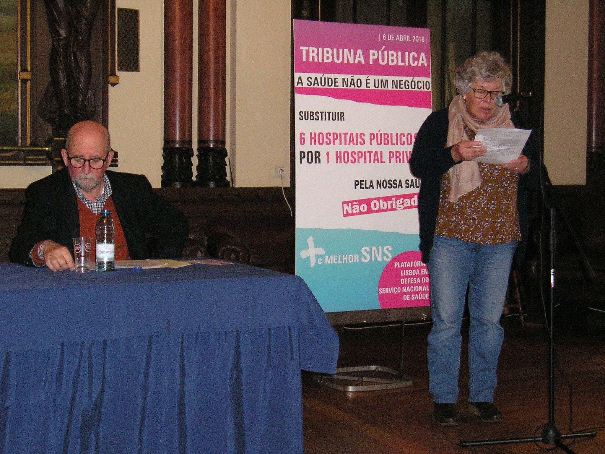 Tribuna Pública em Lisboa – A Saúde não é um negócio!
