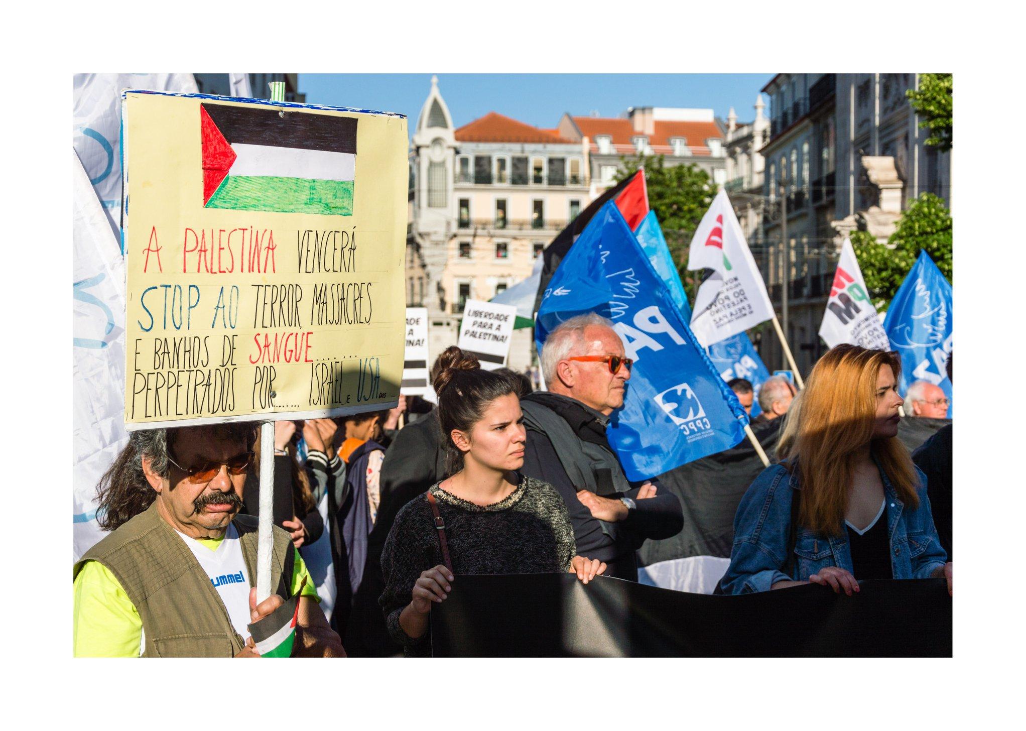 Solidariedade com a Palestina em Lisboa e no Porto