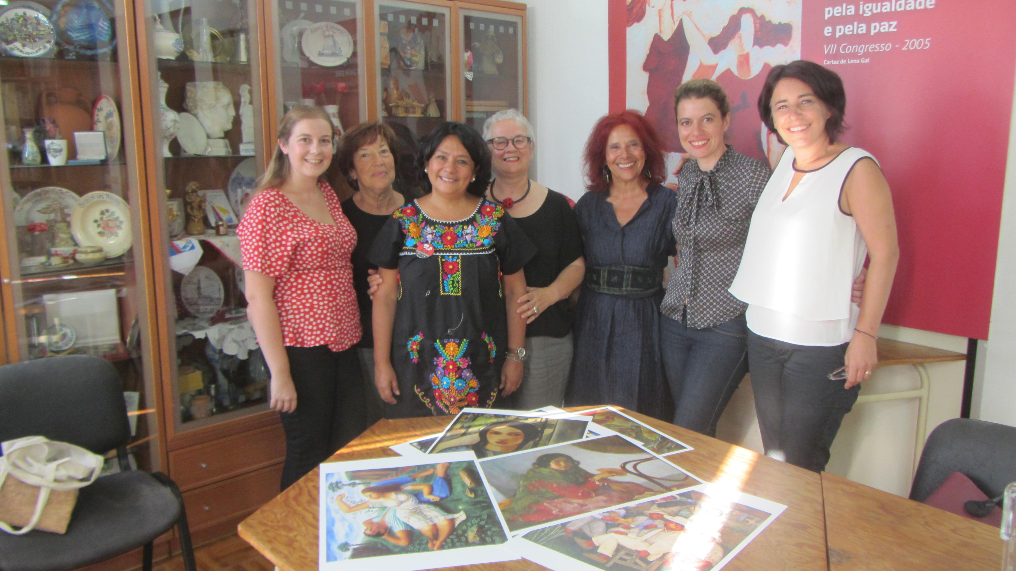 MDM recebe Belskys Lay Rodriguez, dirigente da Federação das Mulheres Cubanas (FMC)