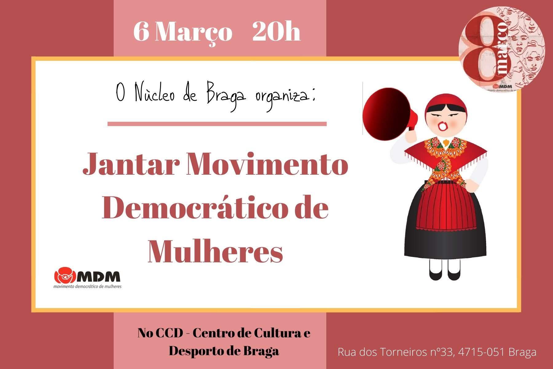 MDM em Braga e as Comemorações do Dia Internacional da Mulher
