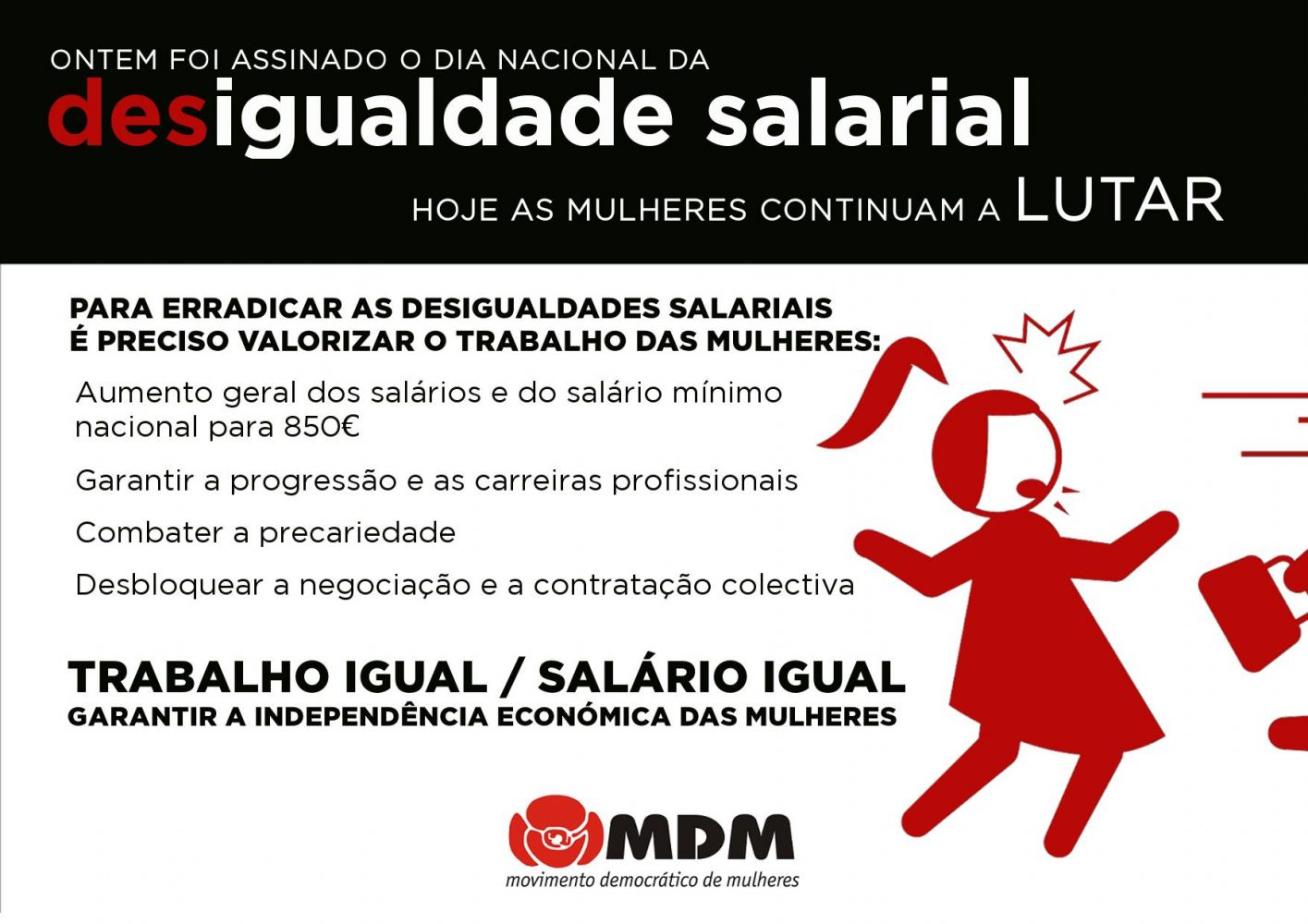 Sobre o Dia Nacional da Des/Igualdade Salarial | 2020