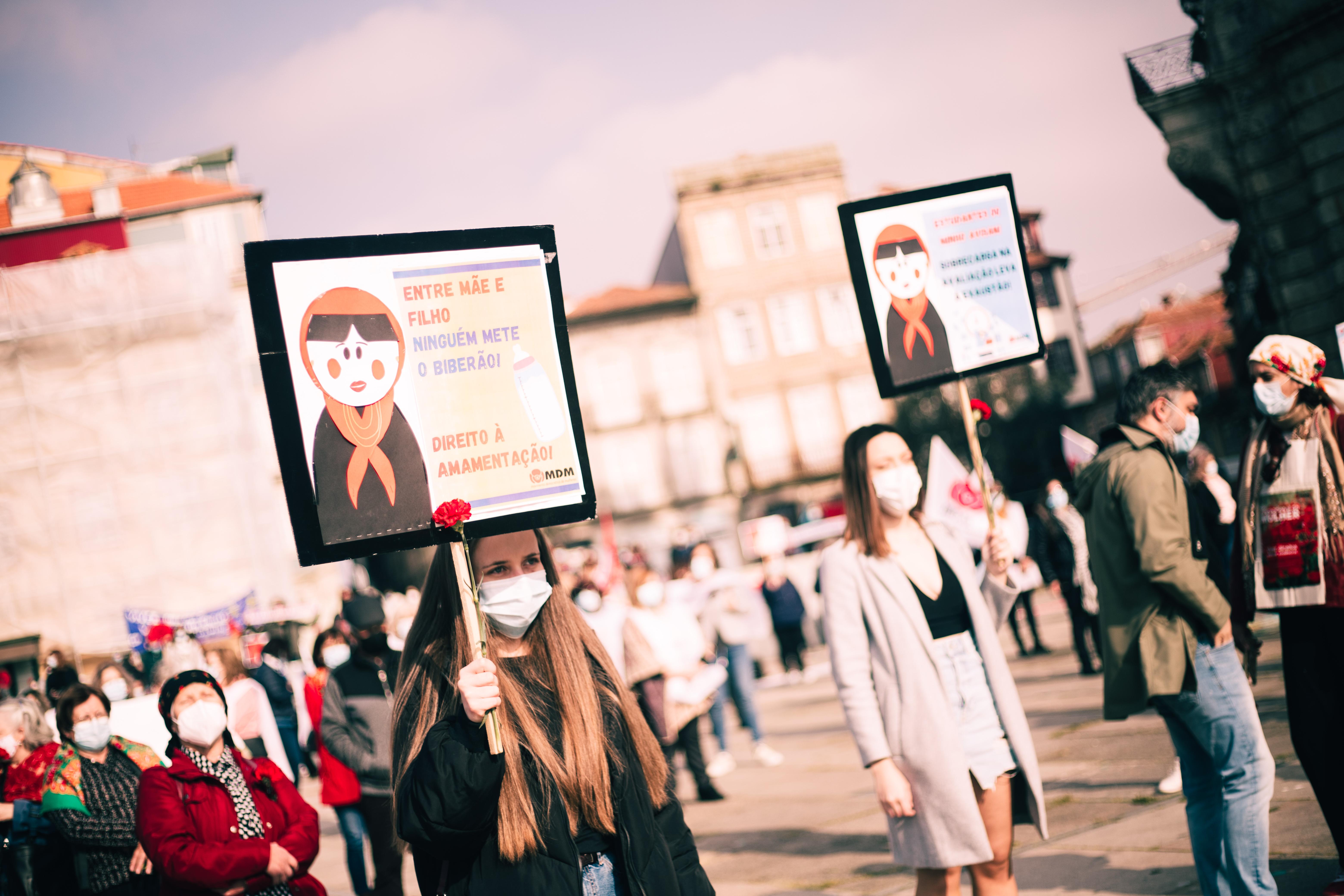 Manifestação Nacional de Mulheres, no Porto, passado dia 7 de Março